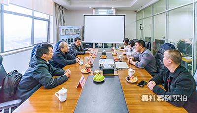 杭州百富电子技术有限公司领导来我公司考察参观